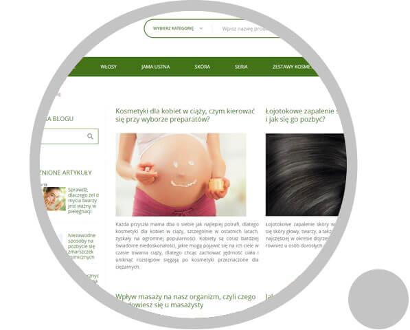 logo z grafika w tle Sklep Internetowy Ziaja<small>Stworzenie sklepu od podstaw i realizacja kompleksowej kampanii </br></br> branża: Uroda</small> 3