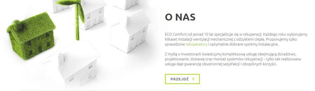 ecocomfort linkowanie wewnetrzne o nas Eco Comfort - montaż rekuperacji <small>Jak w ciągu zaledwie 3 lat uzyskaliśmy ruch o szacowanej wartości aż 4 tyś $ miesięcznie </br></br> branża: Montaż Instalacji</small> 17