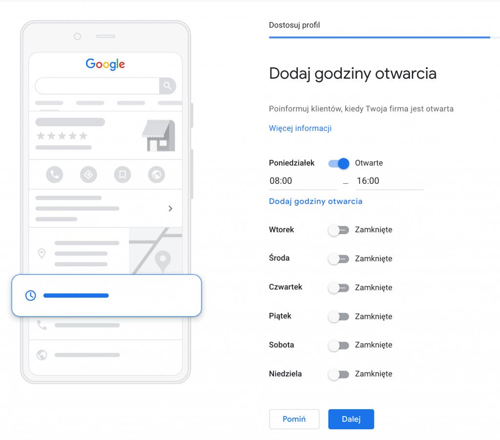 jak stworzyc wizytoowkee google